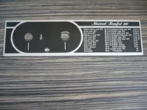 Hajdu Minimat Komfort 560 feliratos tábla. Ára:900ft